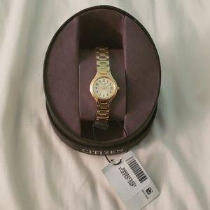 Citizen brand women's gold watch
